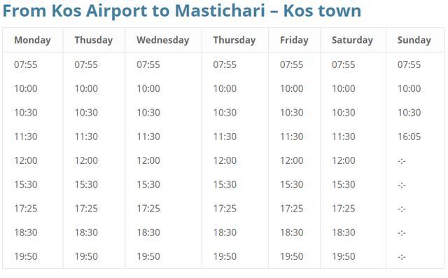 Kos Airport Bus