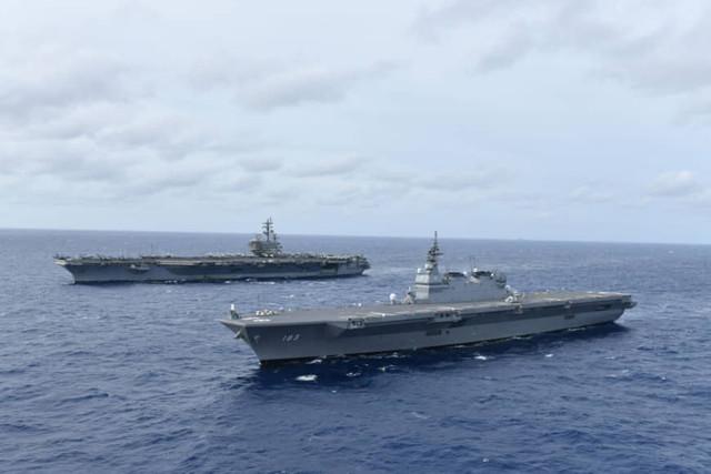 n-izumo-and-USS-Ronald-Regan-in-South-China-Sea-june-2019