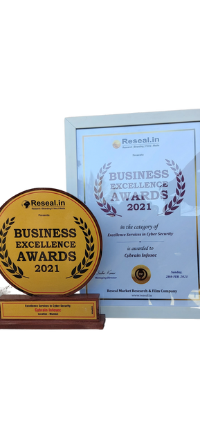 Awarded by reseal media for Excellence services in cyber security.
