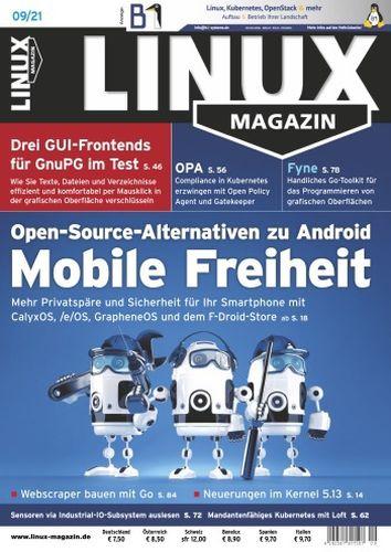 Cover: Linux Magazin No 09 2021