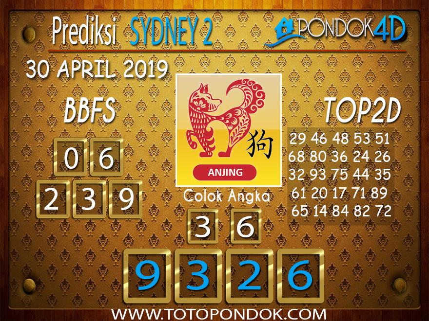 Prediksi Togel SYDNEY 2 PONDOK4D 30 APRIL 2019