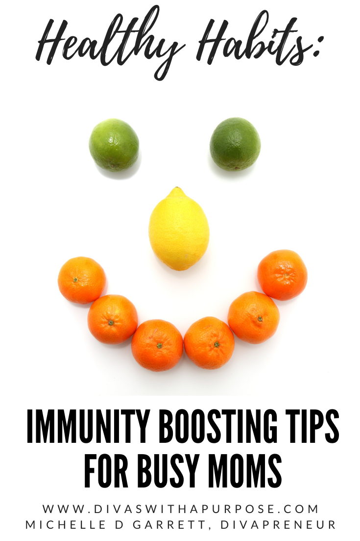 Following these five simple immunity boosting tips for moms will help keep you free from illness during the flu season. #healthyhabits #coldandflu