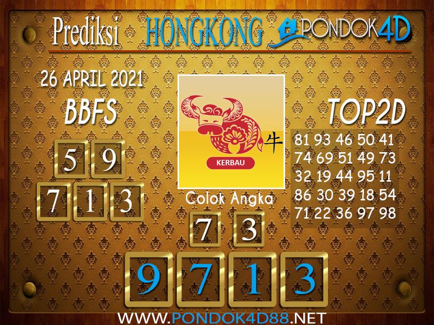 Prediksi Togel HONGKONG PONDOK4D 26 APRIL 2021
