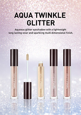 Aqueous glitter eyeshadow with a lightweight long lasting wear and sparkling multi dimensional finish.