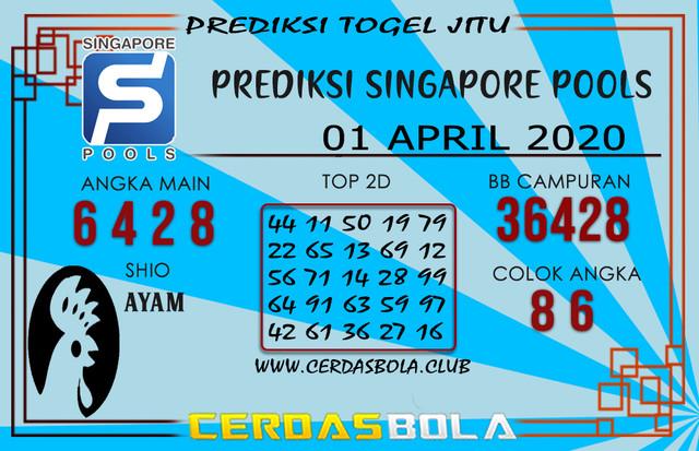 Prediksi Togel SINGAPORE CERDASBOLA 01 APRIL 2020