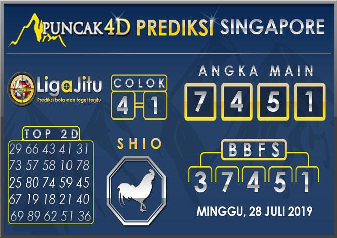 PREDIKSI TOGEL SINGAPORE PUNCAK4D 28 JULI 2019