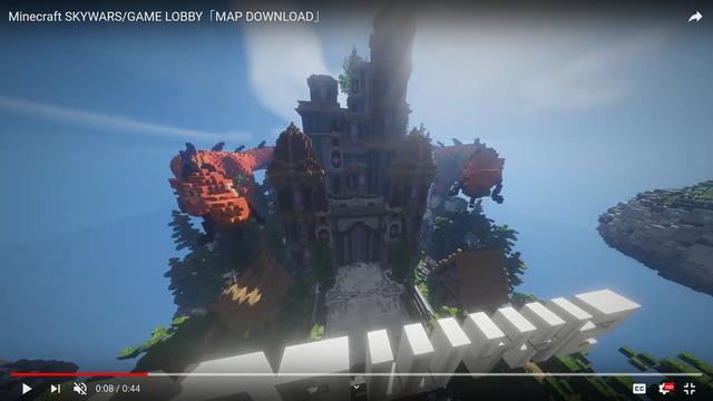 MAP Minecraft Chinese HQ orange dragon SKYWARS/GAME LOBBY「MAP DOWNLOAD」 BlackSpigotMC