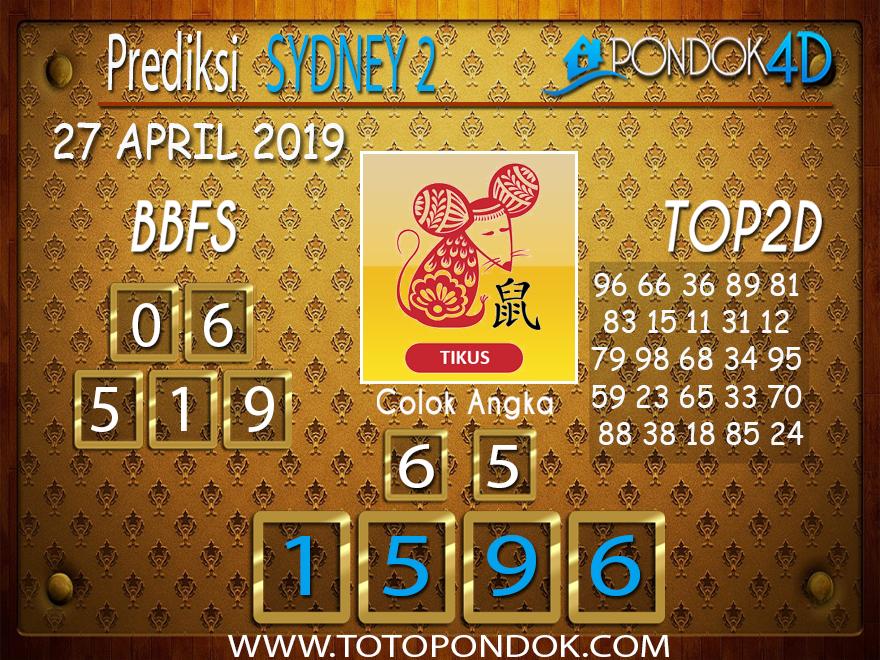 Prediksi Togel SYDNEY 2 PONDOK4D 27 APRIL 2019
