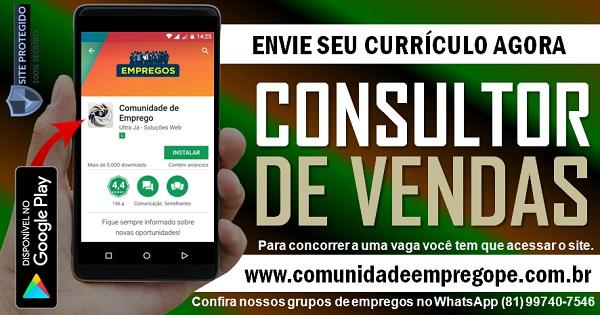 CONSULTOR DE VENDAS PARA EMPRESA DE LOGÍSTICA EM JABOATÃO DOS GUARARAPES
