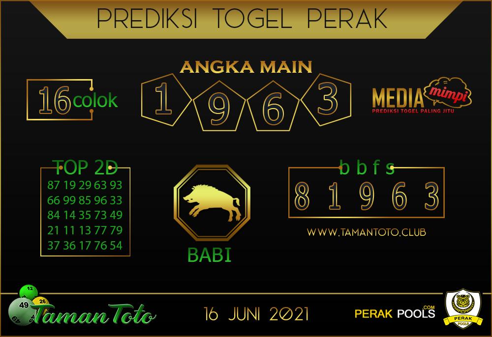 Prediksi Togel PERAK TAMAN TOTO 16 JUNI 2021