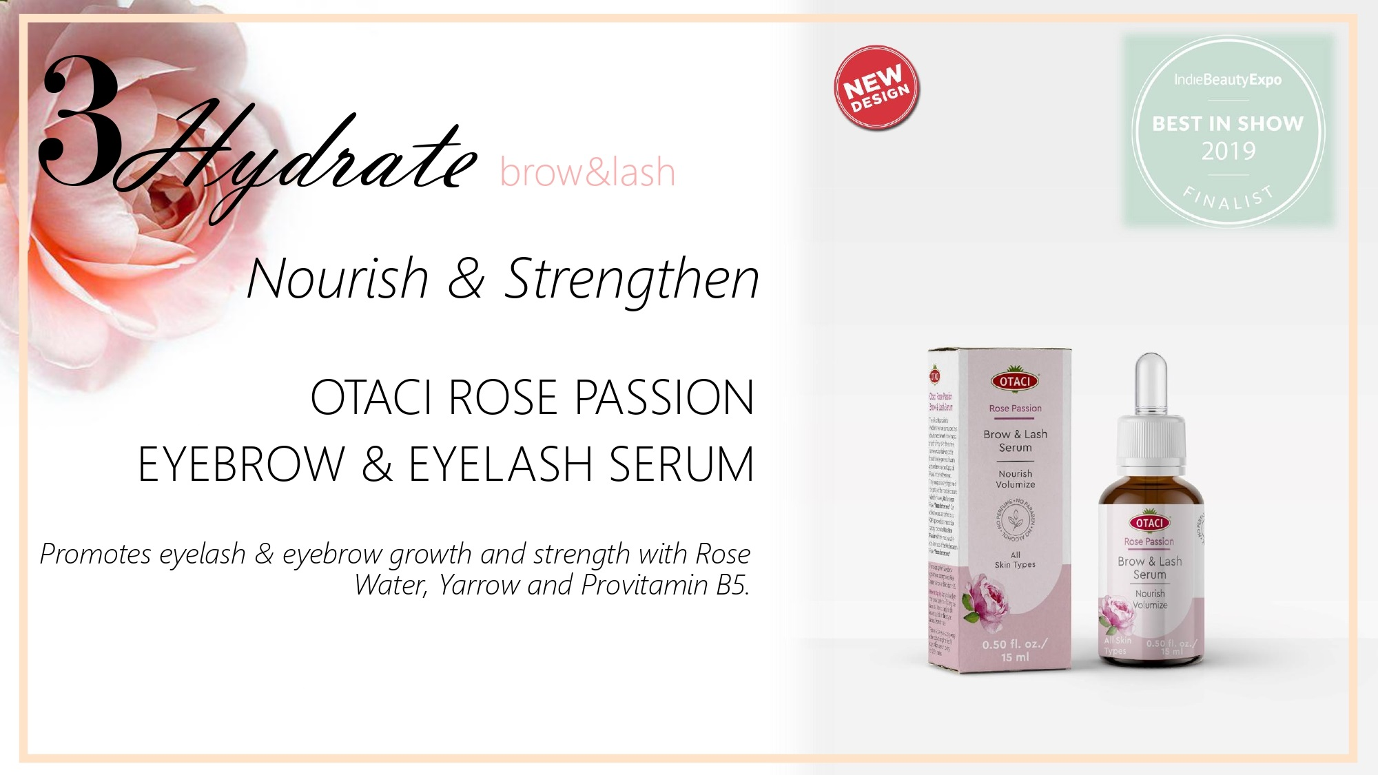 Otaci Rose water Eyelash Serum