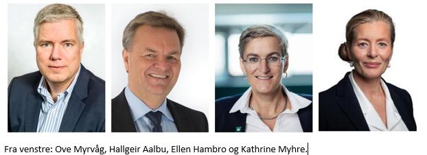 Fra venstre: Ove Myrvåg, Hallgeir Aalbu, Ellen Hambro og Kathrine Myhre.