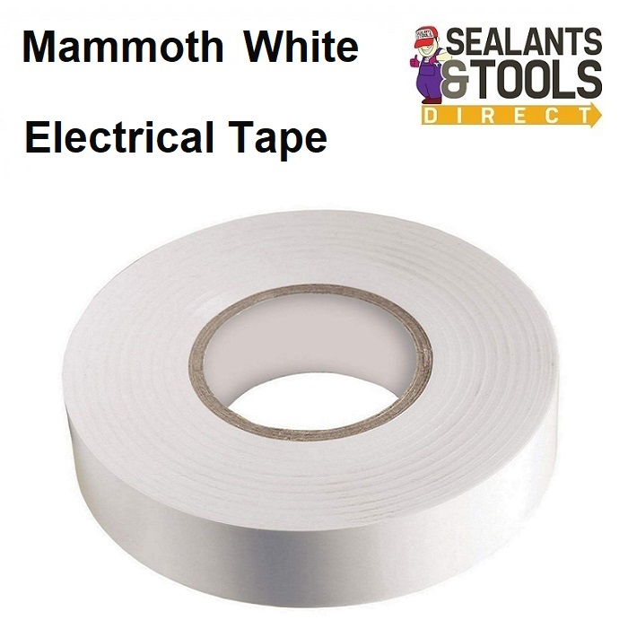 Mammoth Electrical Insulation Tape White 2ELECWE