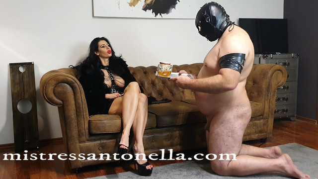 MistressAntonellaSilicone - Pee and Caviar for Sissy Julia