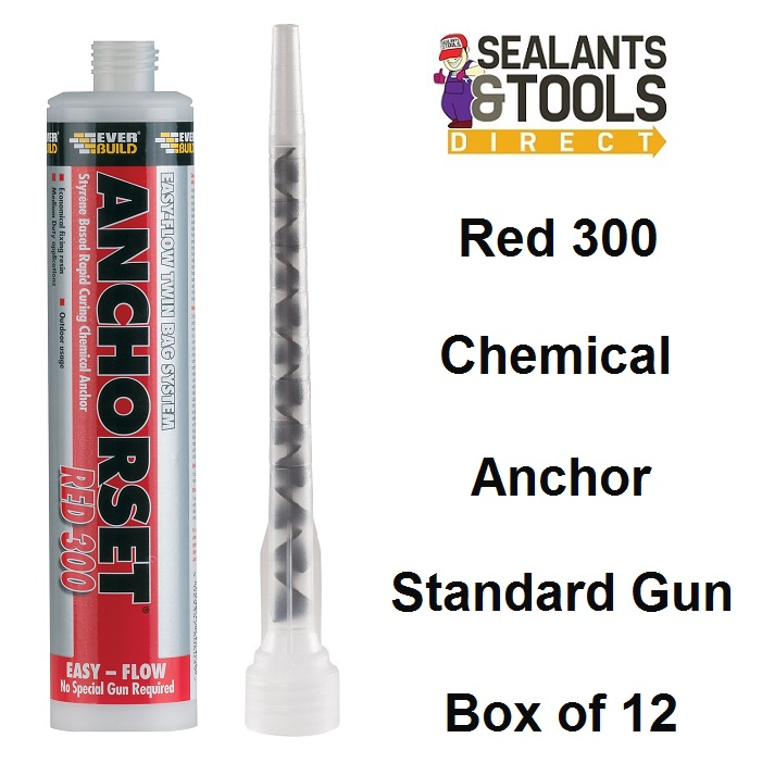 Everbuild Anchorset Red Chemical Anchor Resin 300ml box of 12