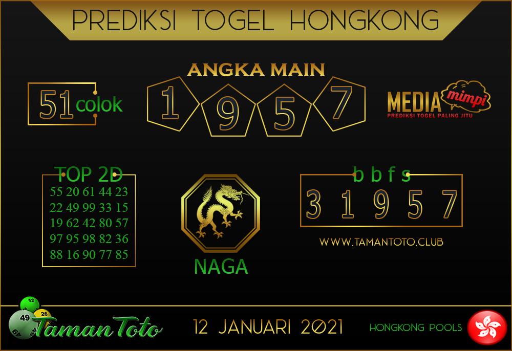 Prediksi Togel HONGKONG TAMAN TOTO 12 JANUARI 2021