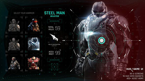 HUD GAME UI 26768873 - Project for After Effects (Videohive)