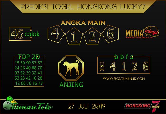 Prediksi Togel HONGKONG LUCKY 7 TAMAN TOTO 27 JULI 2019