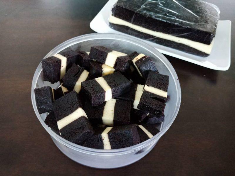 kek kukus coklat cheese