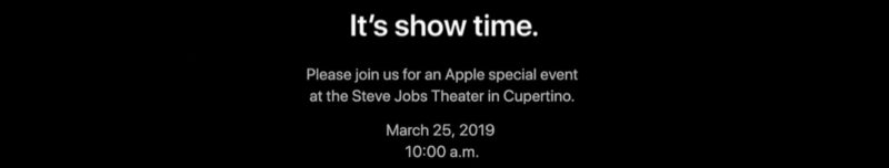 It's official, the Apple event will be held on March 25th