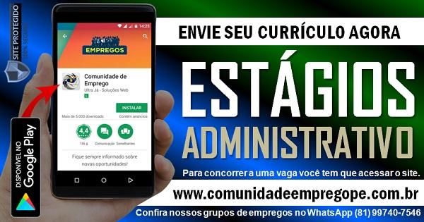 ESTÁGIO ADMINISTRATIVO PARA INSTITUIÇÃO DE ENSINO PROFISSIONAL NO CABO DE SANTO AGOSTINHO