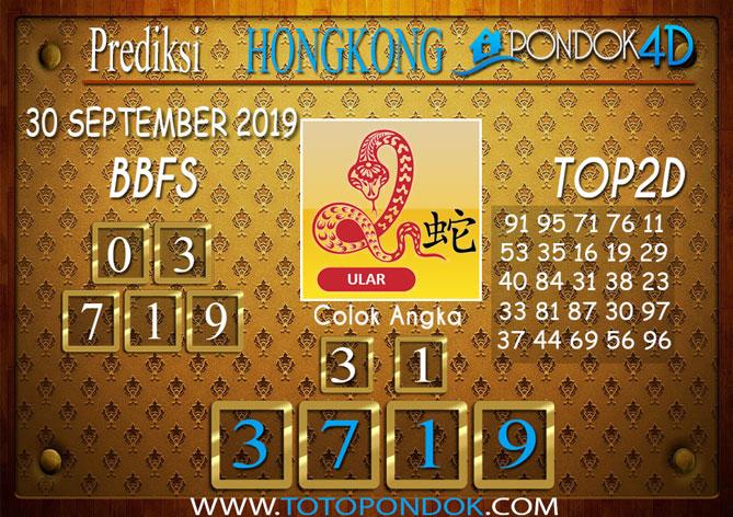 Prediksi Togel HONGKONG PONDOK4D 30 SEPTEMBER 2019
