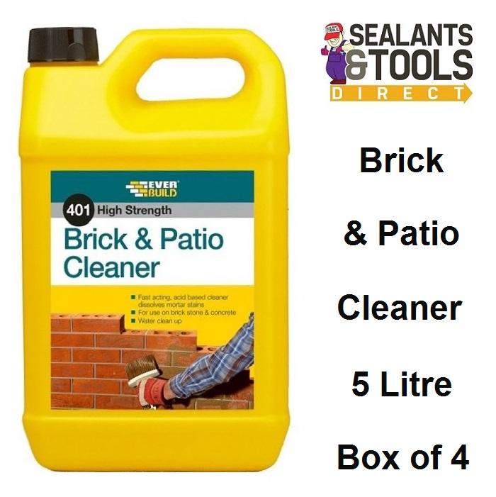 Everbuild 401 Brick & Patio Cleaner 5 Litre Box of 4