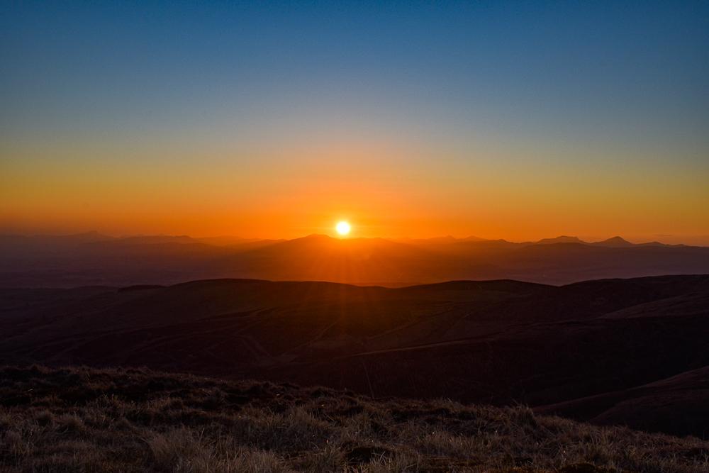 Sunset, Ochil hills, Scotland Tour