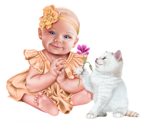 baby-with-a-kitten-png17.png