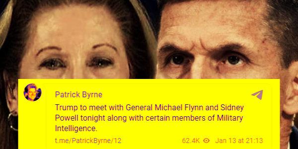 Fake Patrick Byrne Account on Telegram Spreading Disinfo…