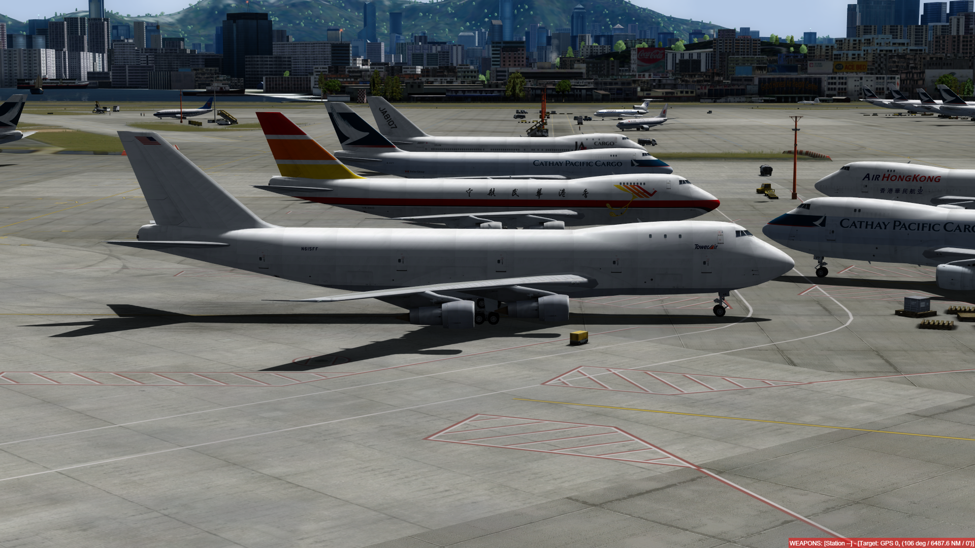 O dia a dia em Hong Kong Kai Tak - O aeroporto mais emocionante do mundo! P3D V4.4 - Só trafego AI. Captura-de-Tela-239