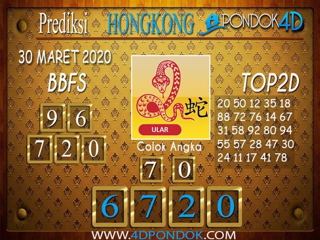 Prediksi Togel HONGKONG PONDOK4D 30 MARET 2020