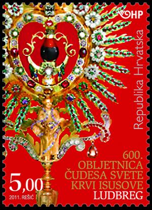 2011. year 600-OBLJETNICA-UDESA-SVETE-KRVI-ISUSOVE-LUDBREG