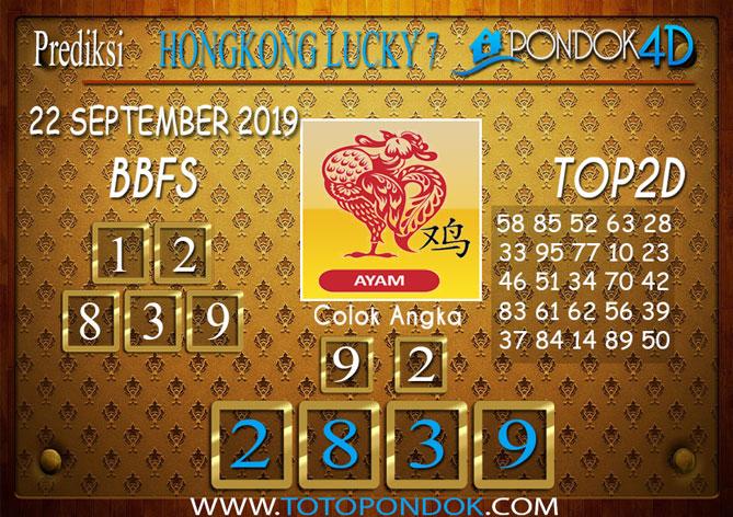 Prediksi Togel HONGKONG LUCKY 7 PONDOK4D 22 SEPTEMBER 2019