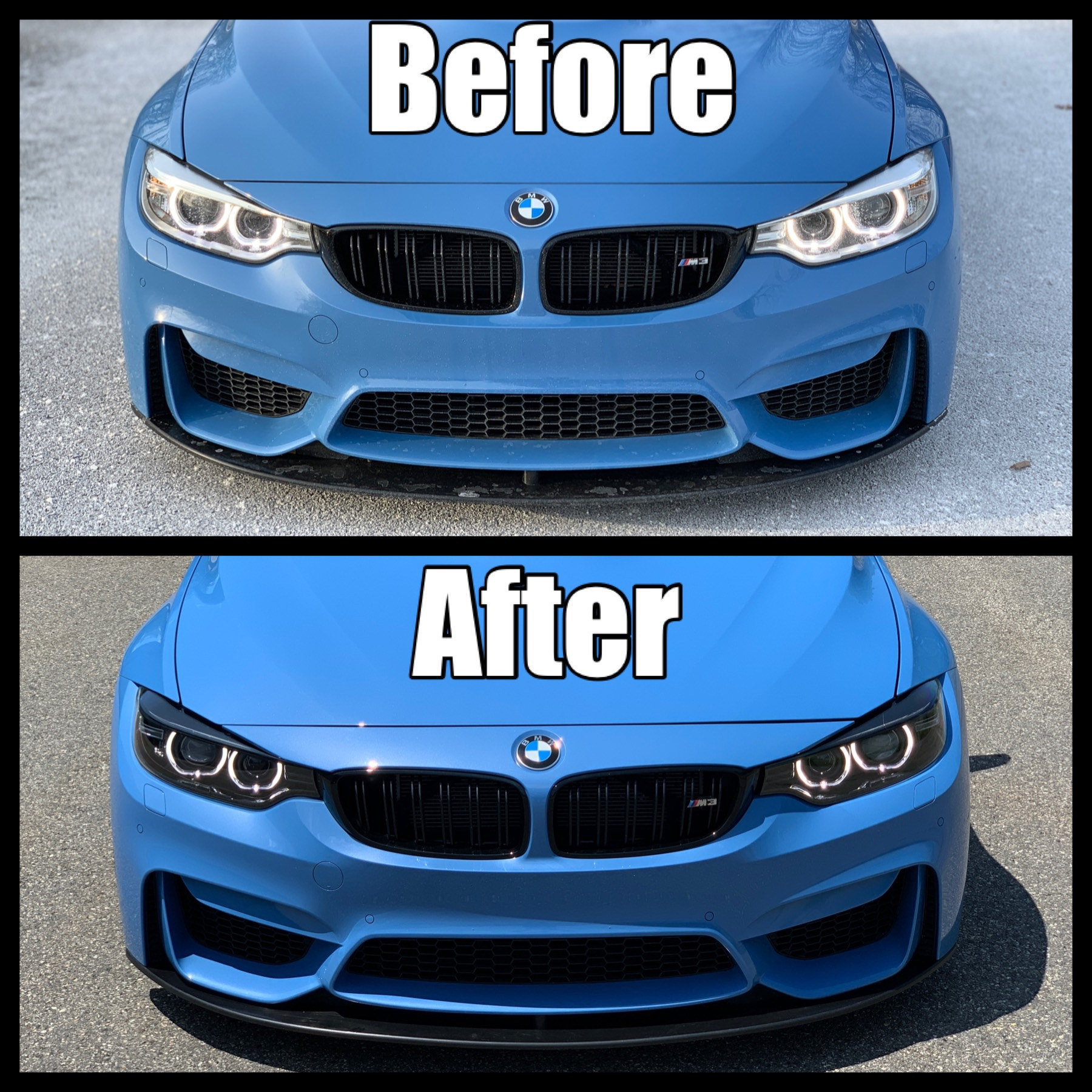 New Black Bezel Headlamps A Complete Transformation Bmw M3 And Bmw M4 Forum