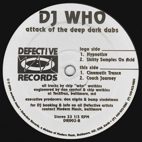 DJ Who - Attack Of the Deep Dark Dubs