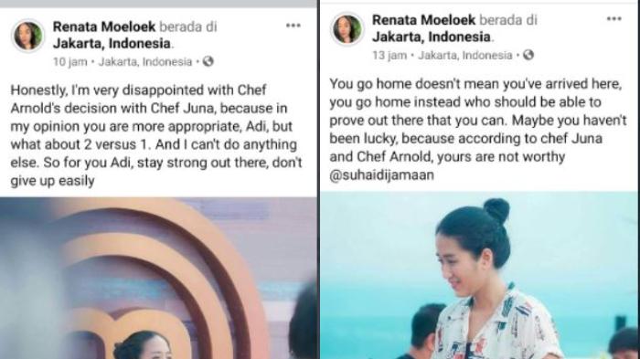 Unggahan akun Faceboook yang mengatasnamakan Chef Renatta