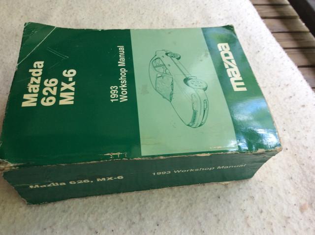 1993 Mazda 626 MX6 workshop service manual