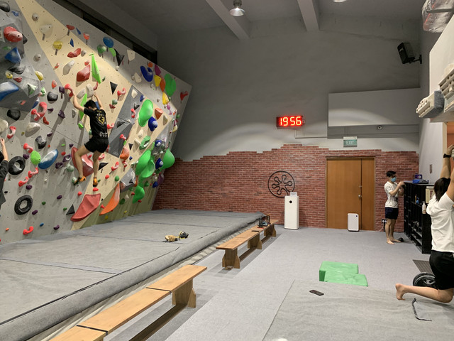 Climbing session at Fit Bloc
