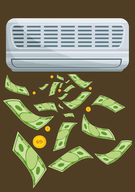 Image-of-an-aircon-blowing-out-money