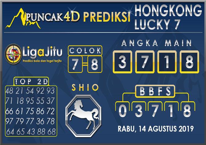 PREDIKSI TOGEL HONGKONG LUCKY7 PUNCAK4D 14 AGUSTUS 2019