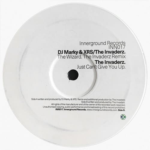 Download DJ Marky & XRS / The Invaderz - The Wizard Remix / Just Can't Give You Up mp3