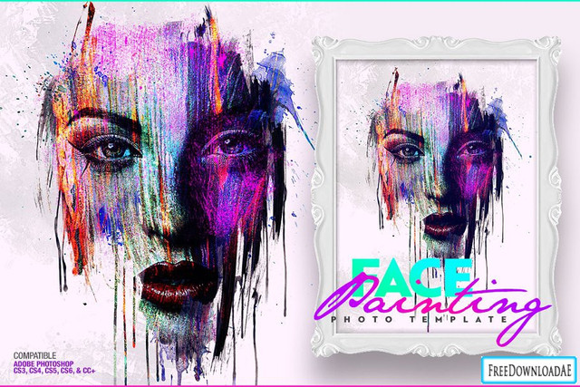 face-painting-photo-template-1160x772px28design-by-amorjesu291