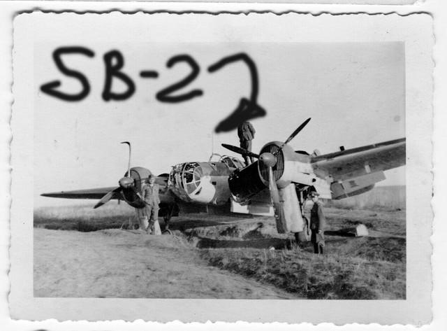 Orig-Foto-Luftwaffe-beute-Flugzeug-SB-2-Bomber-Sowjet
