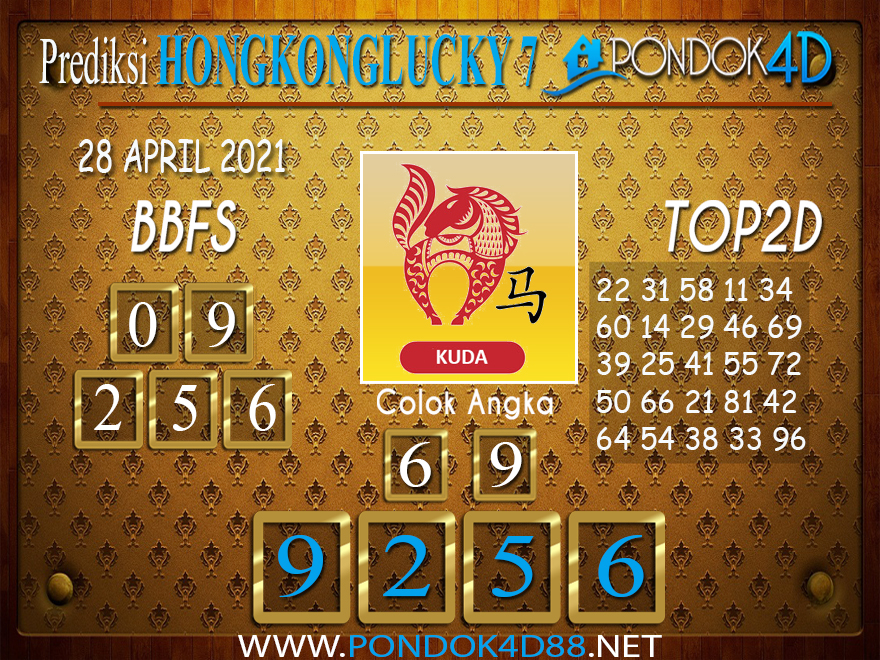 Prediksi Togel HONGKONG LUCKY7 PONDOK4D 28 APRIL 2021