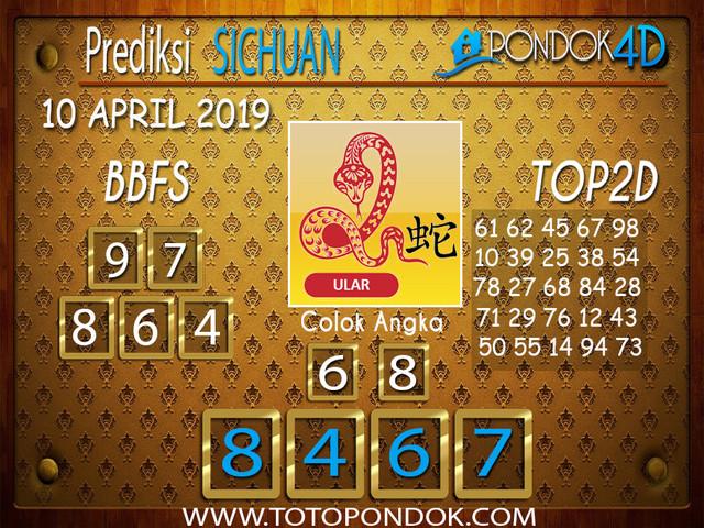 Prediksi Togel SICHUAN PONDOK4D 10 APRIL 2019