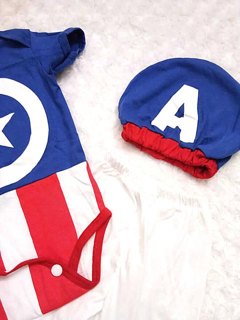 topi bayi kapten amerika iyab babywear