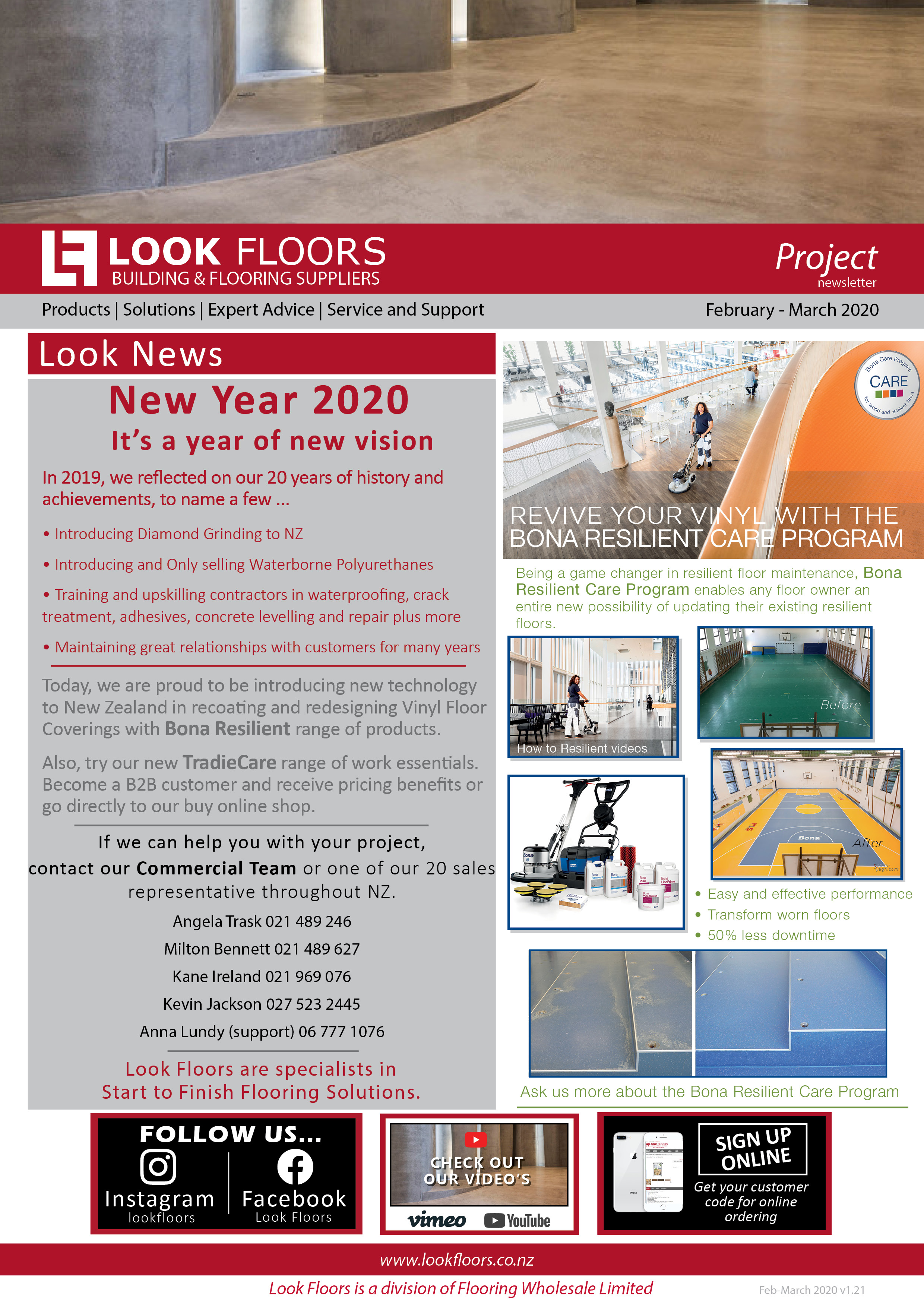 Look Floors Project Newsletter February - March 2020