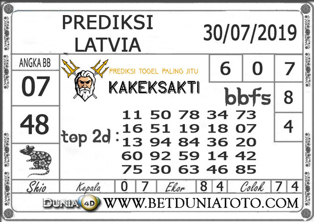 "Prediksi Togel ""LATVIA"" DUNIA4D 30 JULI 2019"