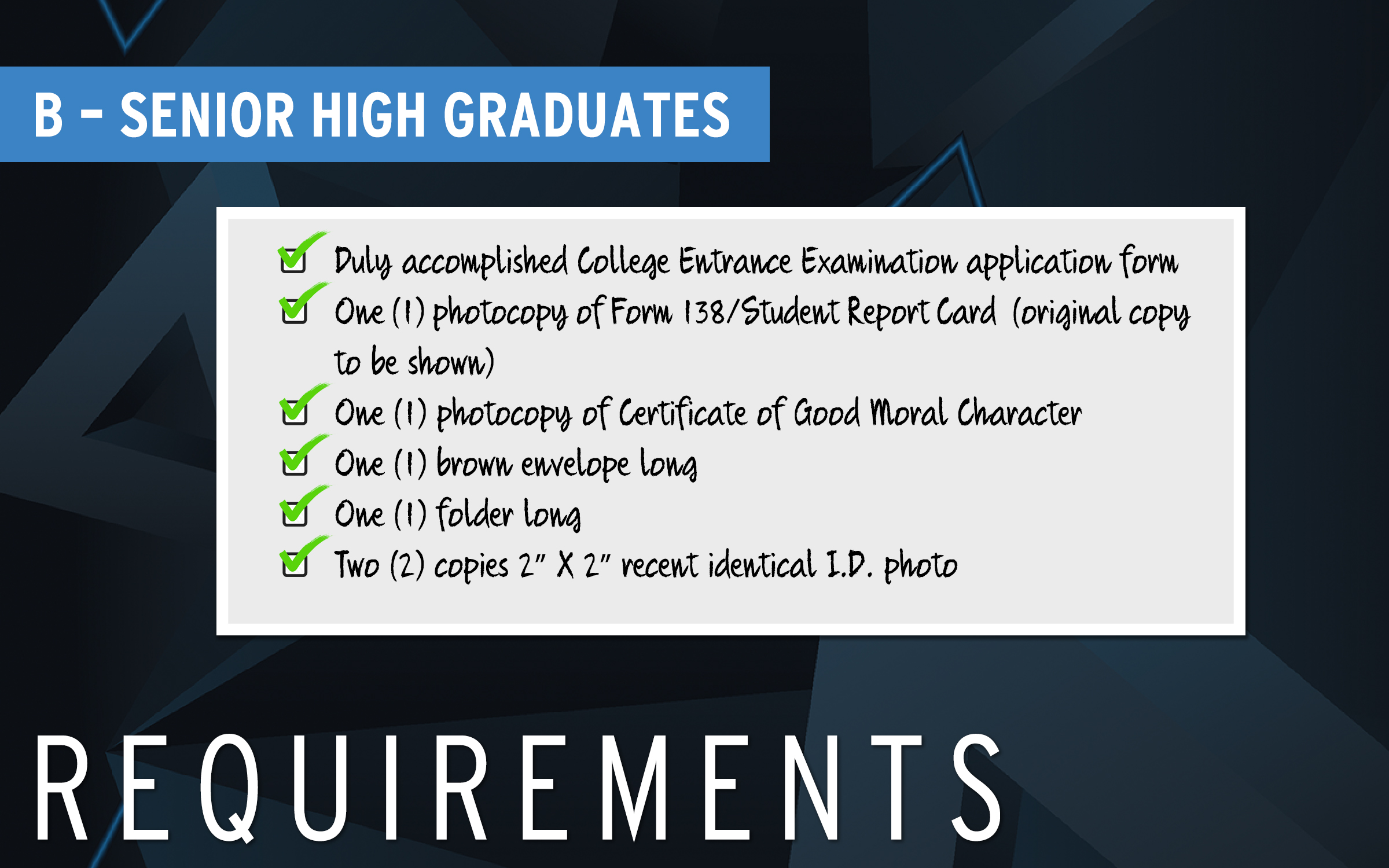 REQUIREMENTS-B